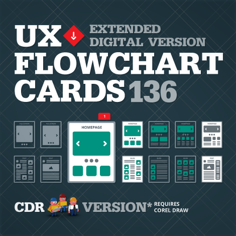 Digital UX Flowchart Cards CDR Version